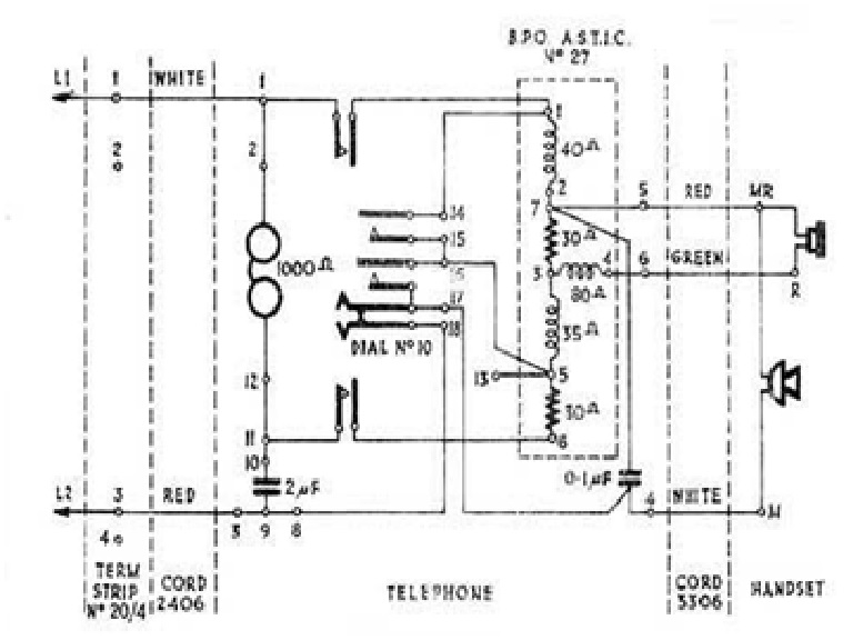 Diagrams#14851210: Rotary Dial Telephone Wiring Diagram – Exo ...